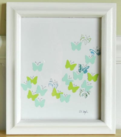 Paper Punch Butterfly Wall Art