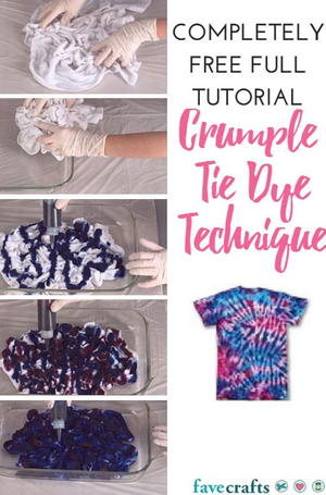 Crumple Tie Dye Technique 4646cd550
