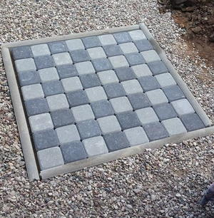 DIY Outdoor Games Chess Board