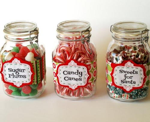Christmas Candy Jar Labels