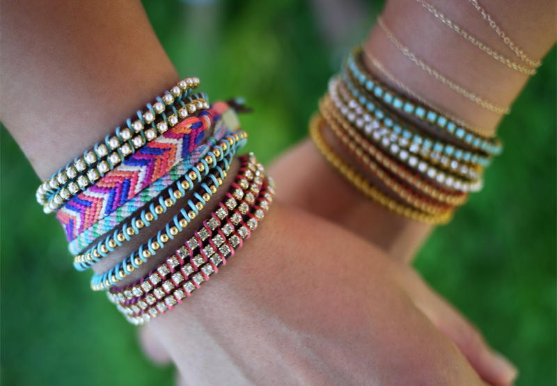 Arm party 30 stackable bracelets to make allfreejewelrymaking com