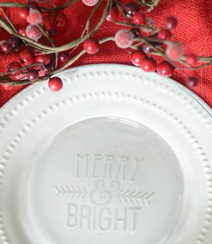 DIY Christmas Etched Plates