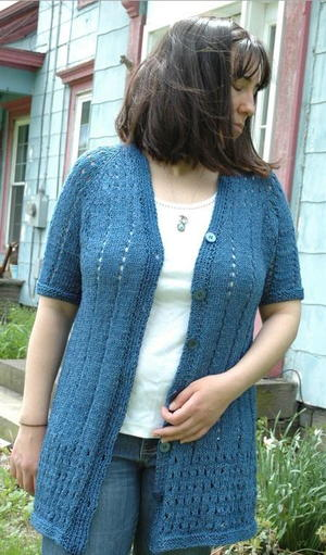 Eyelet Cardigan Knitting Pattern