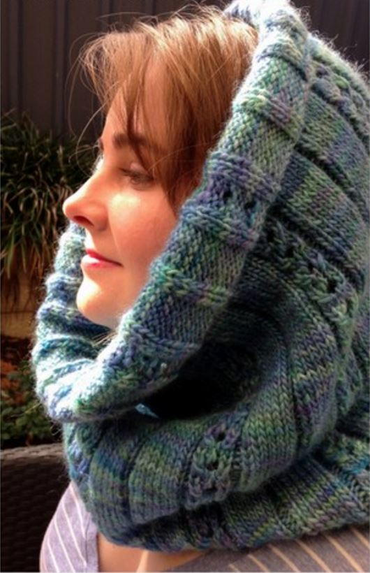 Opal Cable Cowl Pattern