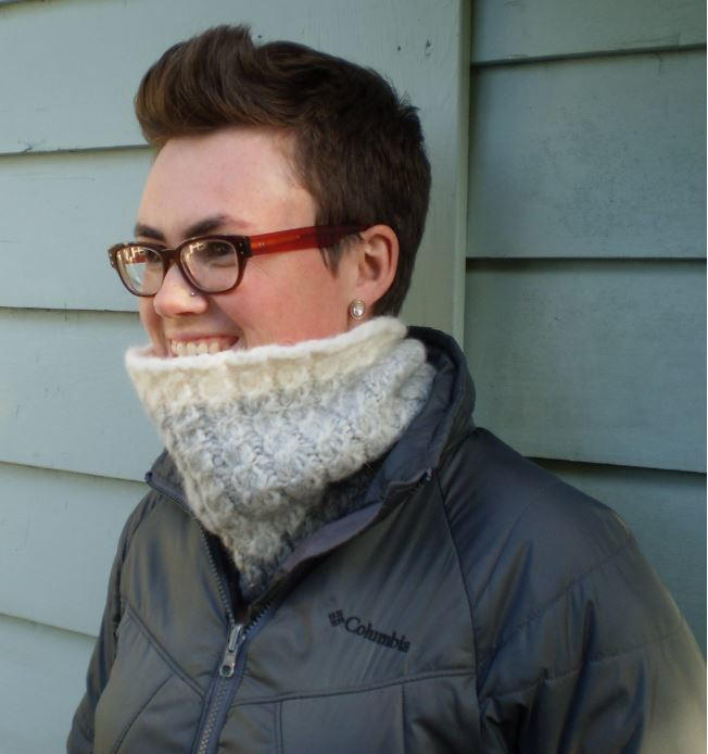 Knitting Pattern Cable Knit Cowl Vest : Snowbound Cable Knit Cowl AllFreeKnitting.com