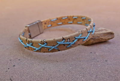 Cork Stitched DIY Bracelet
