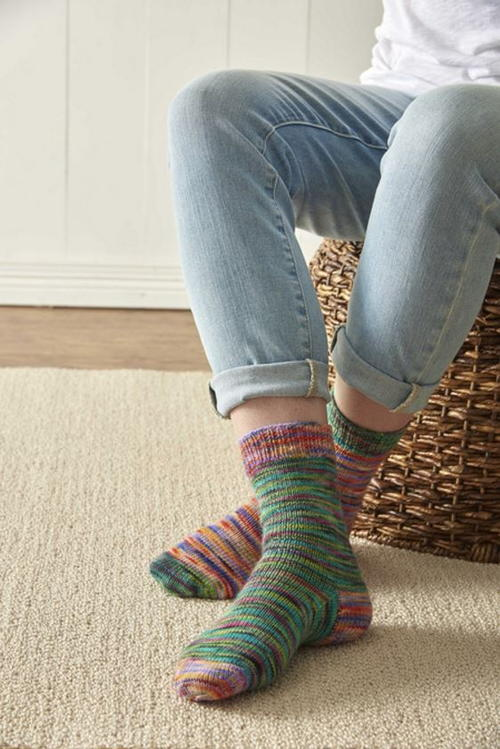 Rainbow Sherbet Sock Pattern