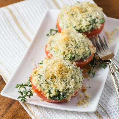 Spinach, Artichoke Stuffed Tomatoes
