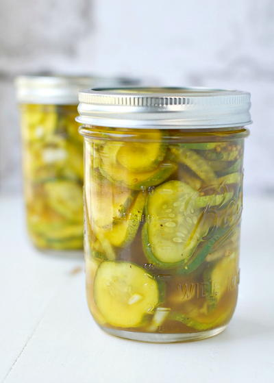 Lower Sugar Bread and Butter Refrigerator Pickles Recipe