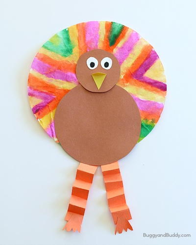 Coffee Filter Thanksgiving Craft Idea