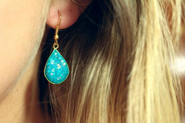 Sparkling Water Clay Earrings
