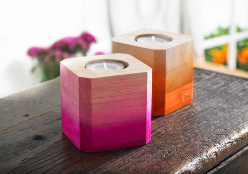 Creative Ombre DIY Candle Holders