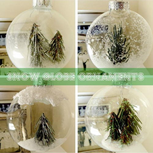 Winter Wonderland Snow Globe Ornaments