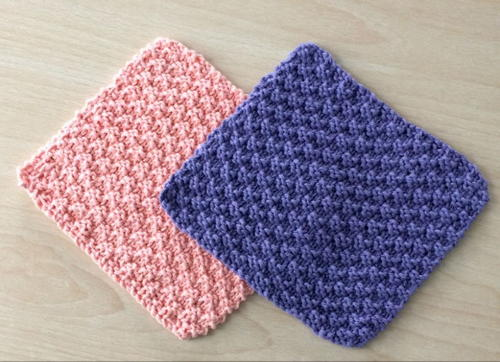 knitted dishcloth patterns pictures