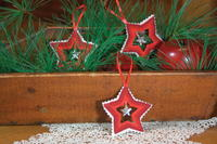 Punchneedle Star Christmas Ornament