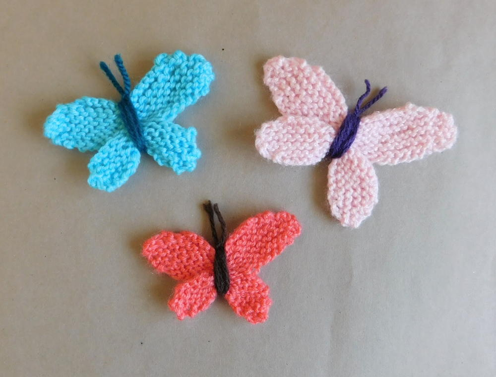 Knitting Pattern Butterfly : Adorable easy knitted butterflies allfreeknitting