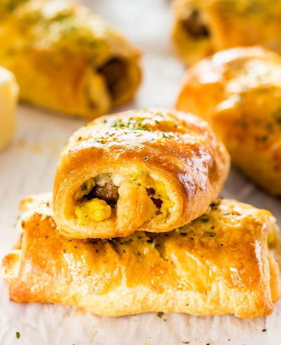 Sausage Egg Breakfast Rolls