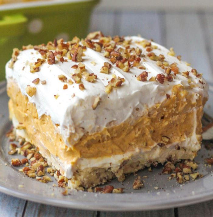 Pumpkin Pudding Mix Dessert Lasagna