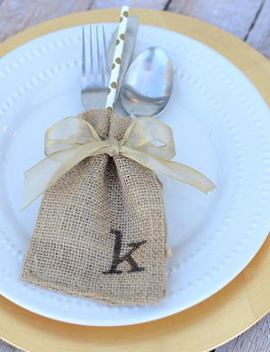 Thanksgiving Burlap Sack Table Decor