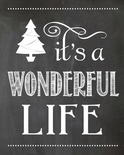 Wonderful Christmas Chalkboard Printable