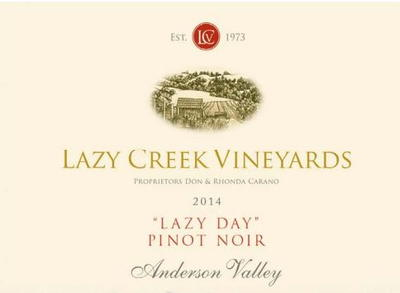 Lazy Creek Lazy Day Pinot Noir 2014