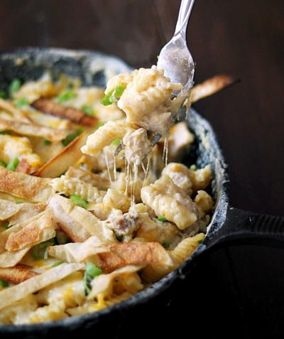 Poblano Chicken Mac and Cheese