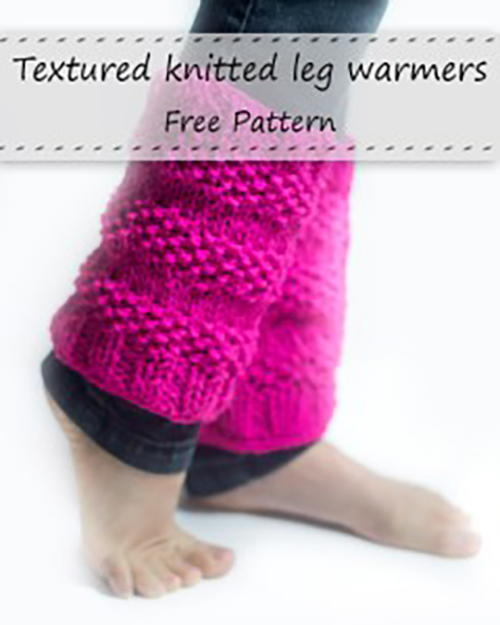 Textured Knitted Leg Warmers