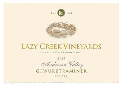 Lazy Creek Gewurztraminer 2015