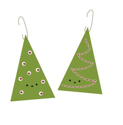 Happy Tree Printable Ornaments