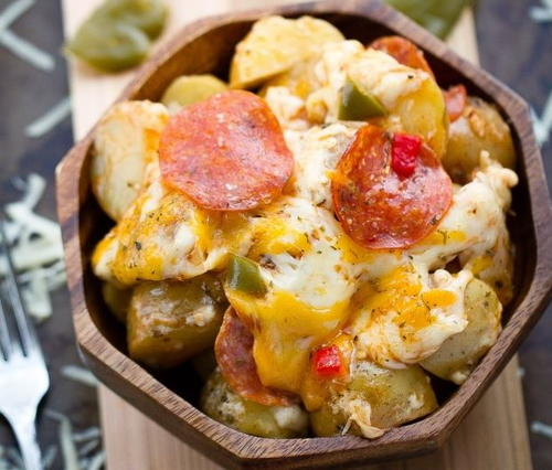 Pizza-Flavored Slow Cooker Potatoes