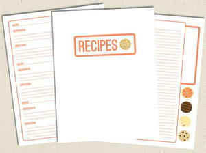 image regarding Printable Recipe Pages called Lovable No cost Printable Recipe Webpages