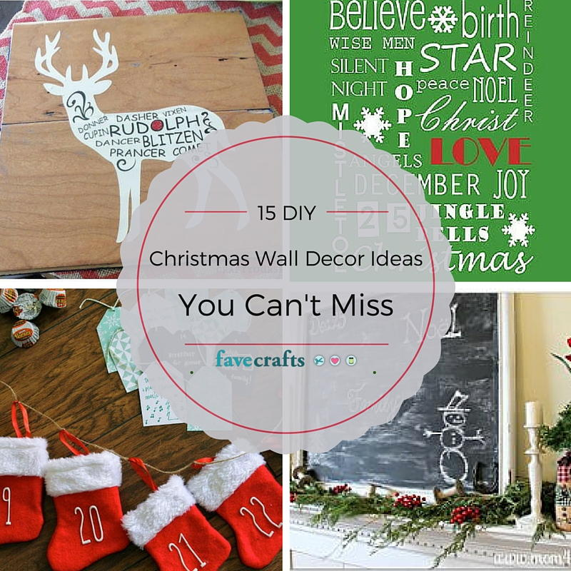 Christmas Decor For Large Wall : Diy christmas wall decor ideas you can t miss