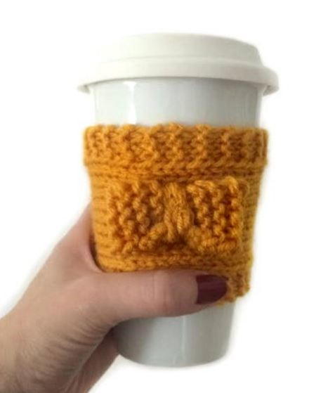 Bow Front Coffee Cozy
