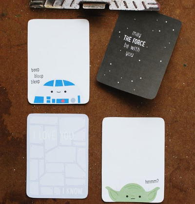 Star Wars Printable Journal Cards
