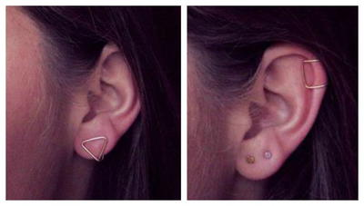 Geometric Wire Ear Cuffs