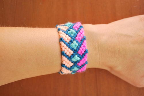 Colorful Tribal Chevron Bracelet