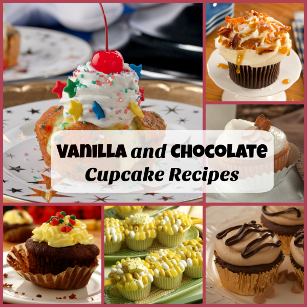 Vanilla and Chocolate Cupcake Recipes