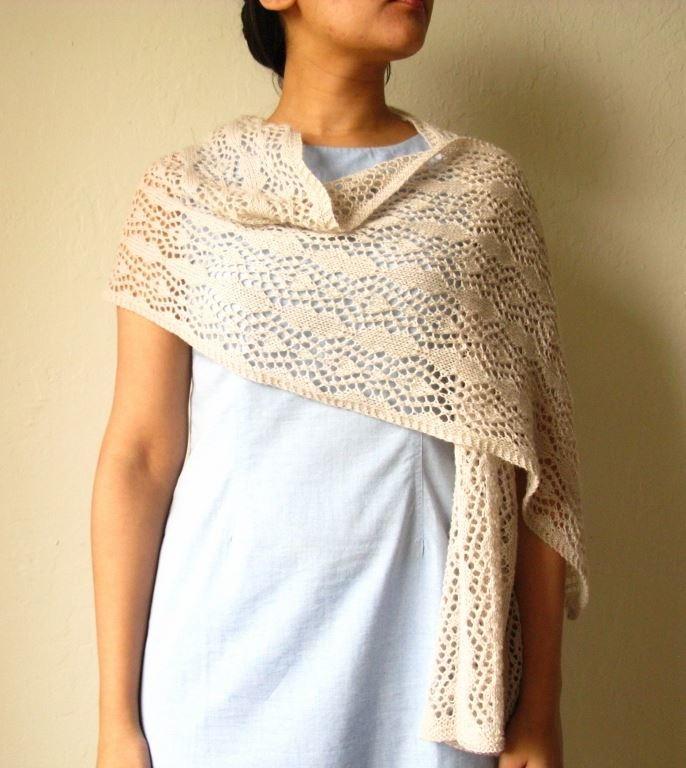 lace stole knitting pattern allfreeknittingcom