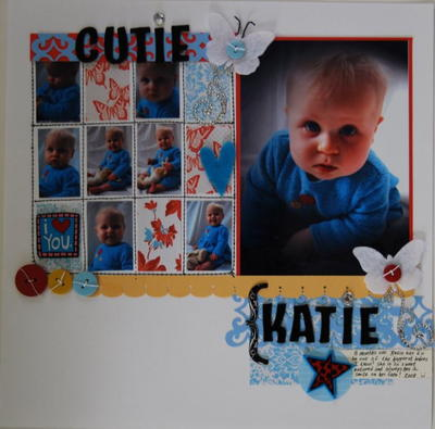 Butterfly Baby Scrapbooking Layout