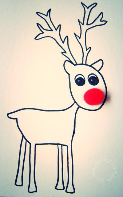 Free Printable Reindeer Cards
