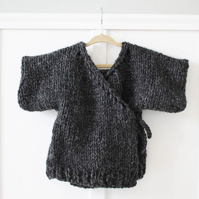 Knitting Jumpers For Beginners : Toddler kimono sweater allfreeknitting