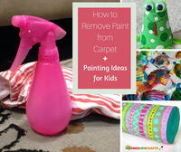 How to Remove Paint from Carpet and 6 Painting Ideas for Kids