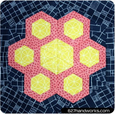 Garfunkel hexagon block pattern for Quilting hexagon templates free