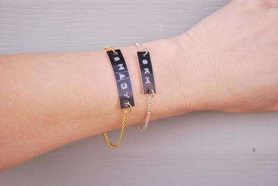 Dainty Label DIY Bracelets