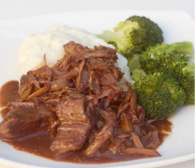 Balsamic Slow Cooker Braised Beef