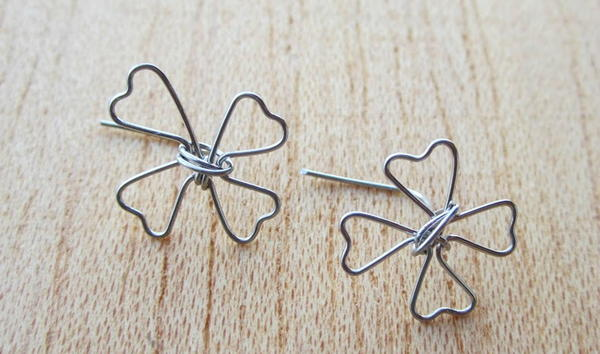 Lucky Clover Wire Earrings
