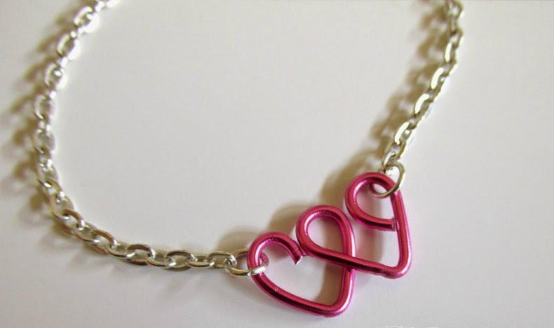 Lovely Heart Wire Wrapped Bracelet