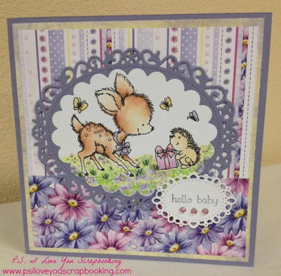 Bluebell the Deer Baby Card