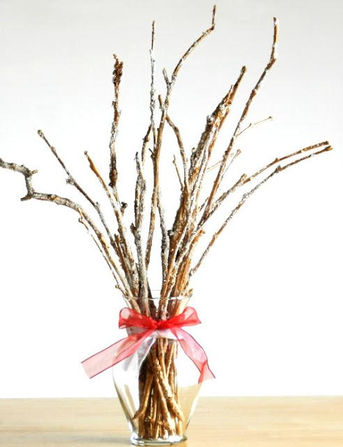 Frosted Twigs DIY Bouquet