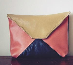 Easy Colorblock Clutch Tutorial